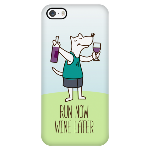 iPhone 5/5s Run Now Drinks Later Phone Case with Ultra Slim Durable Profile