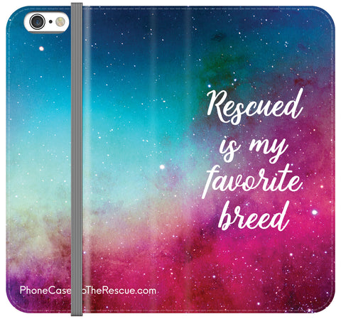 Rescued Is My Favorite Breed Folio Case - Galaxy S6 Edge