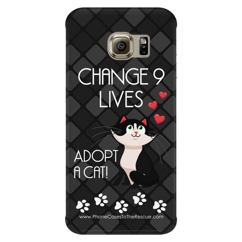 Samsung Galaxy S6 Edge Change 9 Lives Cat Phone Case with Ultra Slim Durable Profile