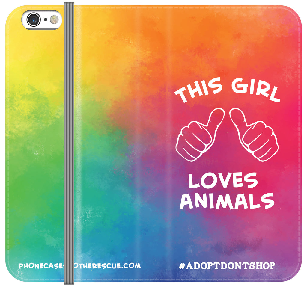 This Girl Loves Animals Folio Case - Galaxy S6