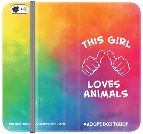 This Girl Loves Animals Folio Case - Galaxy S7