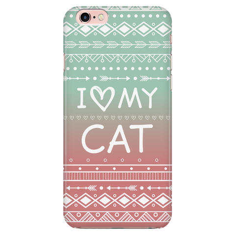 iPhone 7/7s I Love My Cat Phone Case with Ultra Slim Durable Profile
