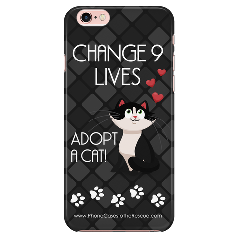 iPhone 6/6s Change 9 Lives Cat Phone Case with Ultra Slim Durable Profile