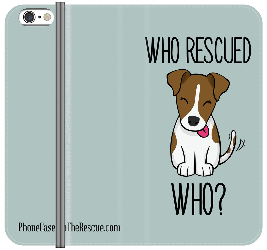 Who Rescued Who Folio Case - iPhone 7 PLUS/8 PLUS
