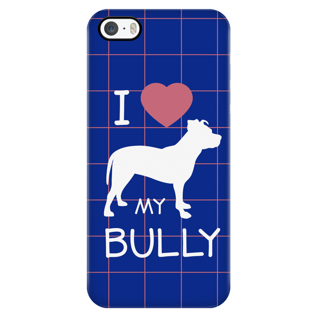 iPhone 5/5s I Love My Bully Phone Case with Ultra Slim Durable Profile