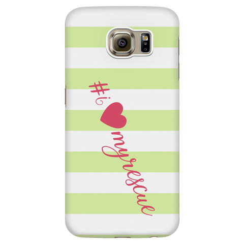 Samsung Galaxy S6 I Love My Rescue Phone Case with Ultra Slim Durable Profile