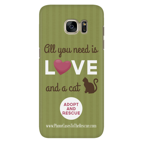 Samsung Galaxy S7 Cute Brown Cat Phone Case with Ultra Slim Durable Profile