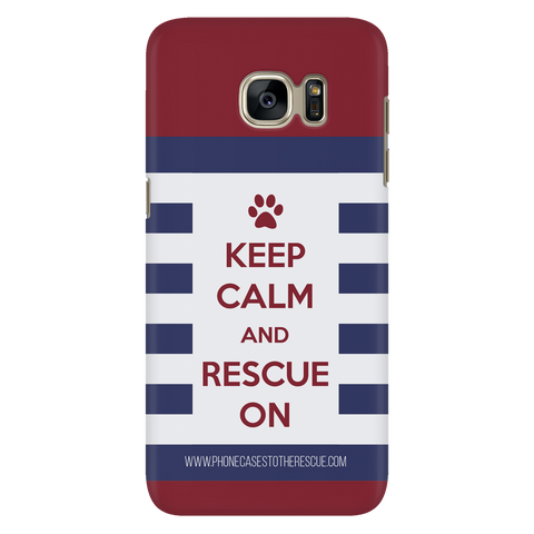 Samsung Galaxy S7 Keep Calm and Rescue On Patriotic Phone Case with Ultra Slim Durable Profile