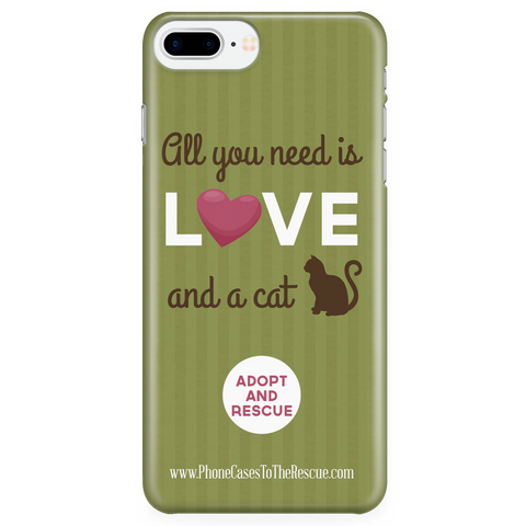 iPhone 7/7s Plus Cute Brown Cat Phone Case with Ultra Slim Durable Profile