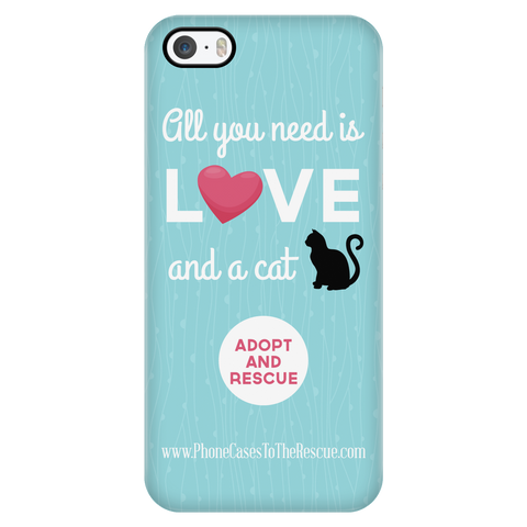 iPhone 5/5s Cute Black Cat Phone Case with Ultra Slim Durable Profile
