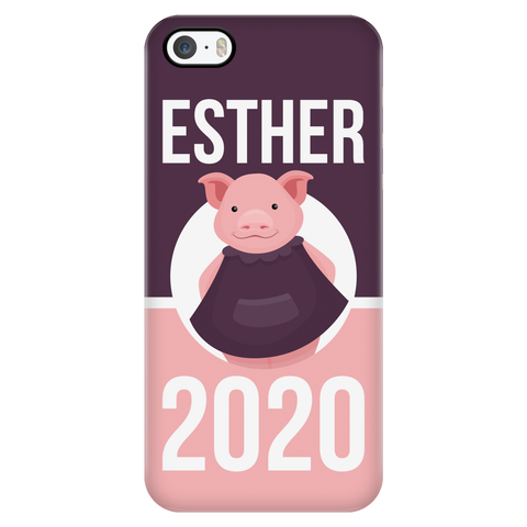 iPhone 5/5s Esther 2020 Pink and Purple Phone Case with Ultra Slim Durable Profile