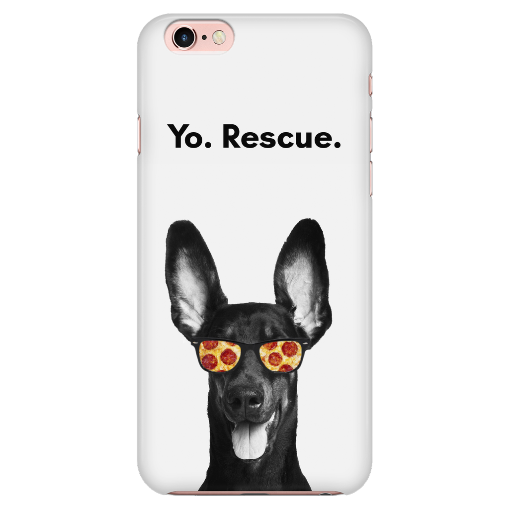 iPhone 6/6s Yo Rescue Pizza Dog Phone Case with Ultra Slim Durable Profile