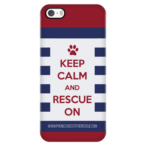 iPhone 5/5s Keep Calm and Rescue On Patriotic Phone Case with Ultra Slim Durable Profile