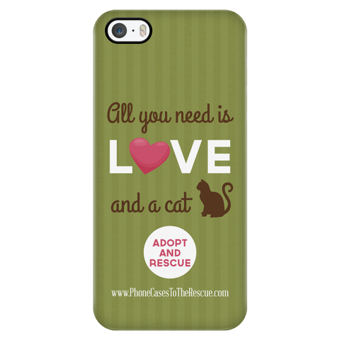 iPhone 5/5s Cute Brown Cat Phone Case with Ultra Slim Durable Profile