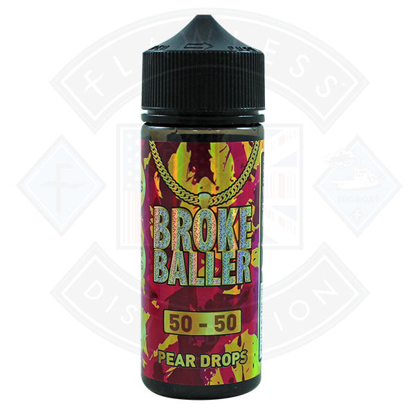 Broke Baller Pear Drops 0mg 80ml Shortfill E-Liquid