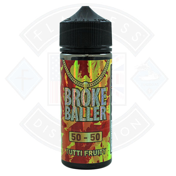 Broke Baller Tutti Fruity 0mg 80ml Shortfill E-Liquid
