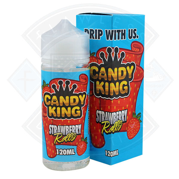 Candy King Strawberry Rolls 0mg 100ml Shortfill E-Liquid