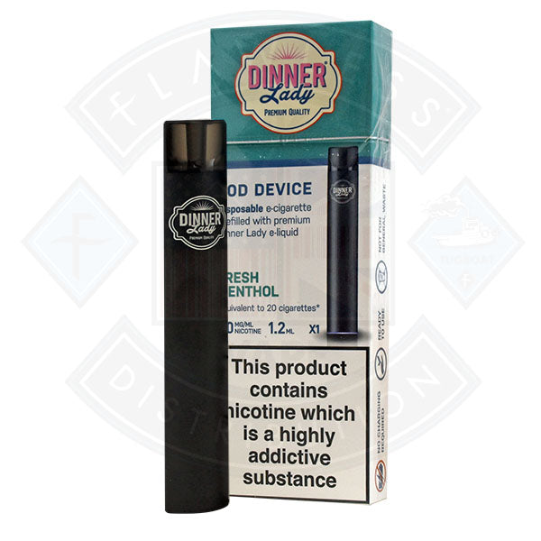 Dinner Lady Disposable POD Device Fresh Menthol 20mg