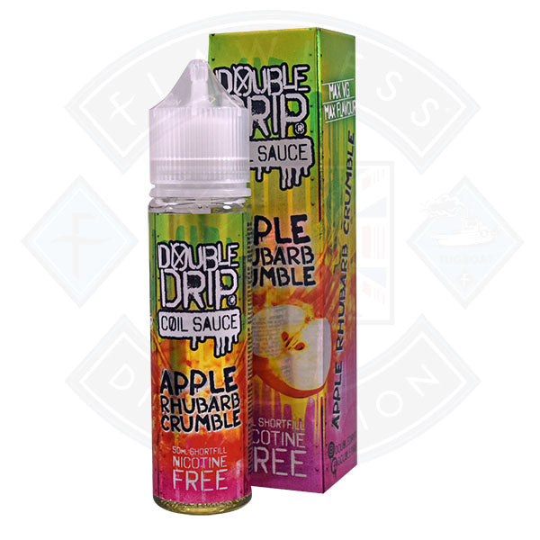 Double Drip - Apple Rhubarb Crumble 0mg 50ml Shortfill