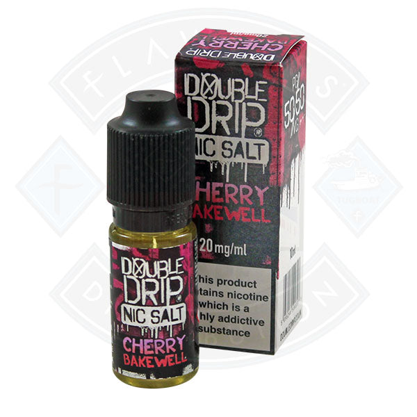 Vapouriz Double Drip Nic Salt Cherry Bakewell 10ml E-liquid