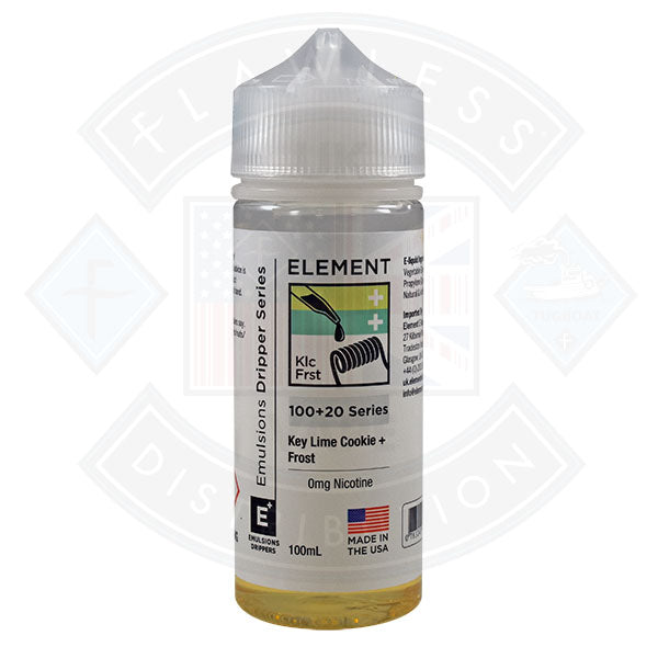 Element Emulsion - Key Lime Cookie & Frost 0mg 100ml Shortfill