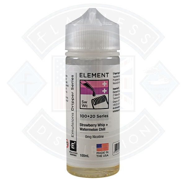 Element Emulsion - Strawberry Whip & Watermelon Chill 0mg 100ml Shortfill