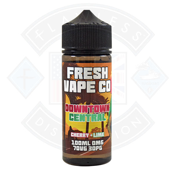 Fresh Vape Co. Downtown Central Cherry & Lime 0mg 100ml Shortfill