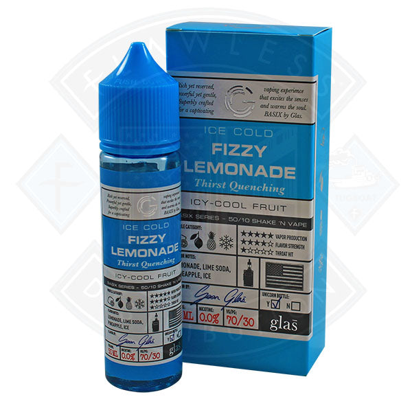 Glas Basix Series Ice Cold Fizzy Lemonade 0mg 50ml E Liquid