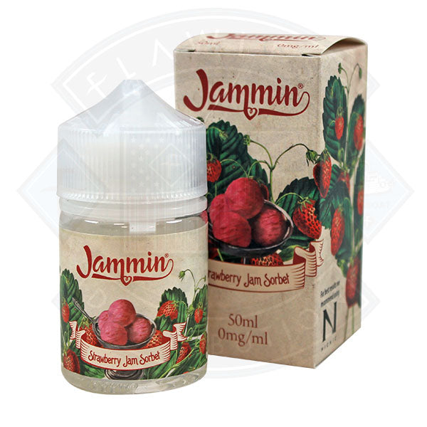 Jammin - Strawberry Jam Sorbet 50ml 0mg shortfill e-liquid