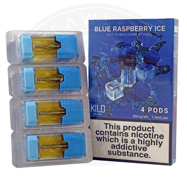 Kilo 1K Replacement Blue Raspberry Ice 20mg 4pods/pack
