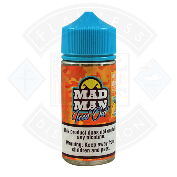 Mad Man Iced Out Crazy Orange Ice 0mg 80ml Shortfill