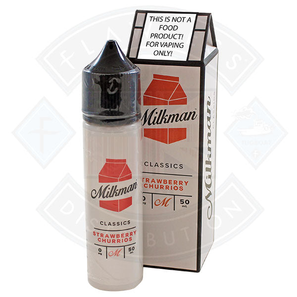 The Milkman Classics Strawberry Churrios 50ml 0mg shortfill e-liquid