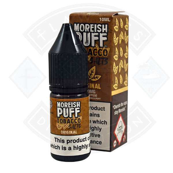 Moreish Puff Tobacco Nic Salt Original 10ml