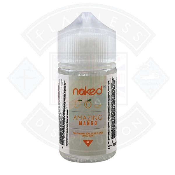 Naked - Amazing Mango 0mg 50ml Shortfills