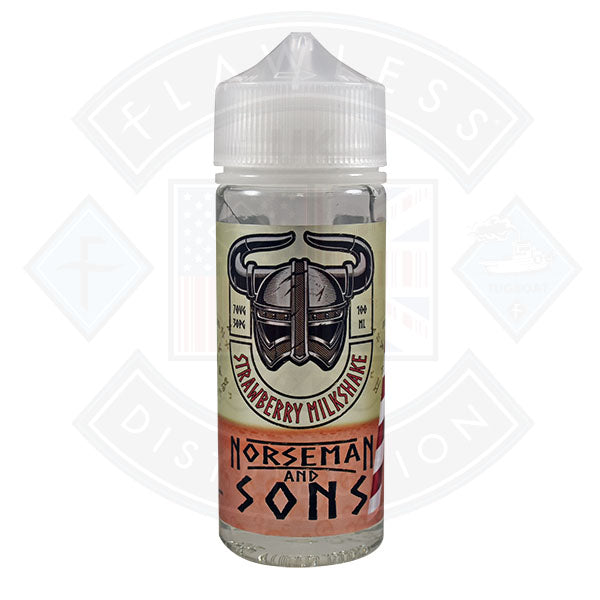 Norseman and Sons - Strawberry Milkshake 0mg 100ml Shortfill
