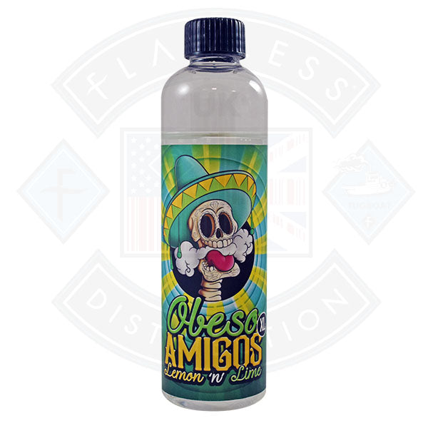Obeso Amigos XL Lemon and Lime 0mg 200ml Shortfill E-Liquid