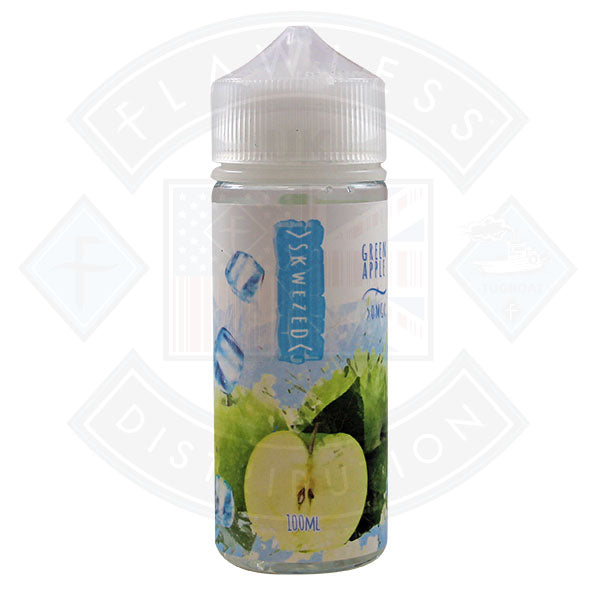 Skwezed - Green Apple Ice 0mg 100ml Shortfill