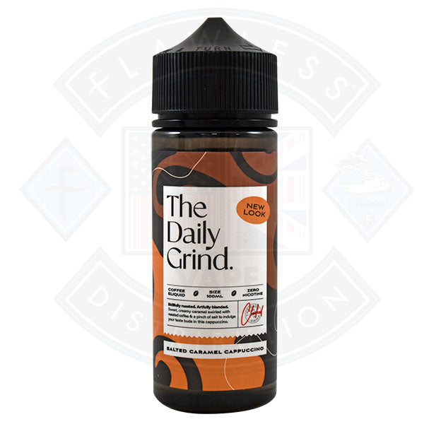 The Daily Grind Salted Caramel Cappuccino (New Look) 0mg 100ml Shortfill