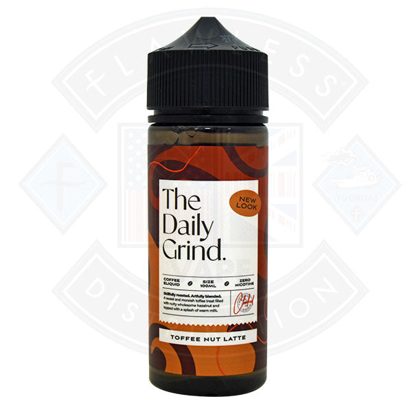 The Daily Grind Toffee Nut Latte (New Look) 0mg 100ml Shortfill