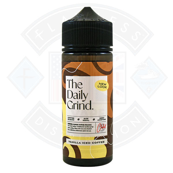 The Daily Grind Vanilla Iced Coffee (New Look) 0mg 100ml Shortfill