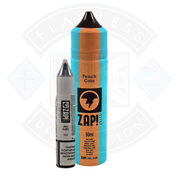 Zap! Peach Cola 50ml 0mg Shortfill E-Liquid