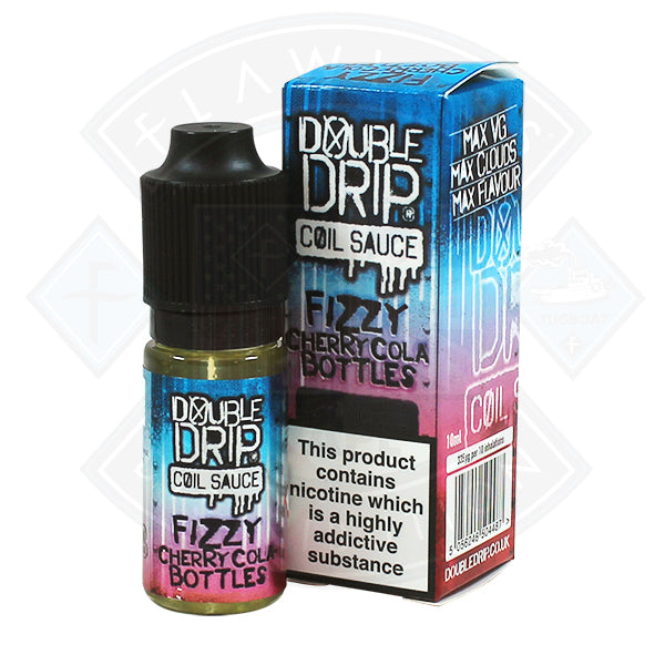 Double Drip Fizzy Cherry Cola Bottles TPD Compliant - 10ml