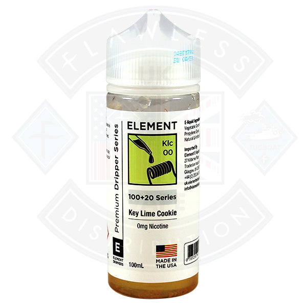 Element Eliquid Key Lime Cookie 0mg 100ml Shortfill