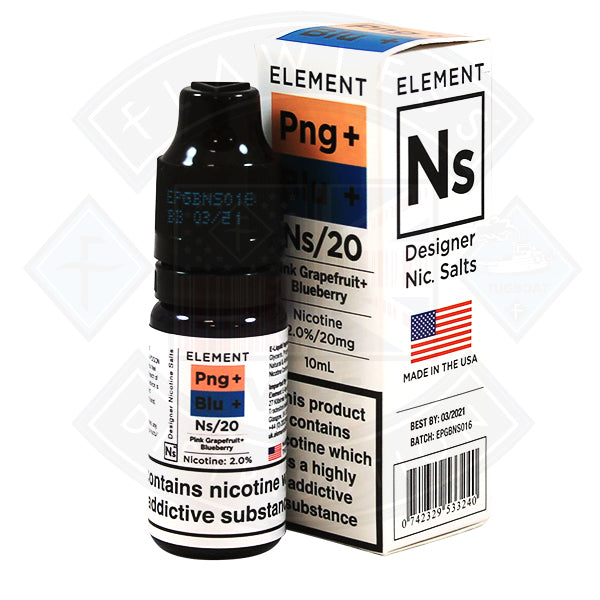 Element Eliquid Pink Grapefruit and Blueberry Salt Eliquid 10ml