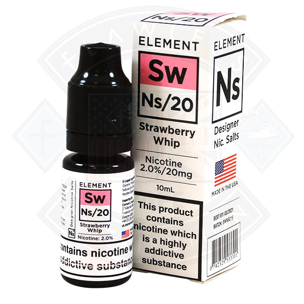 Element Eliquid Strawberry Whip Nic Salt Eliquid 10ml
