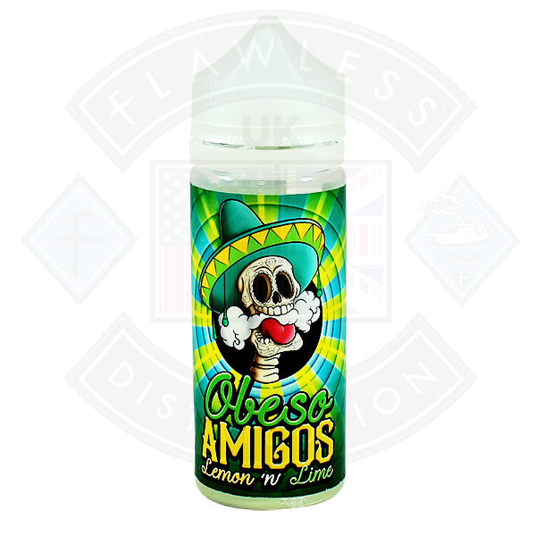 Obeso Amigos Lemon and Lime 0mg 100ml Shortfill E-Liquid