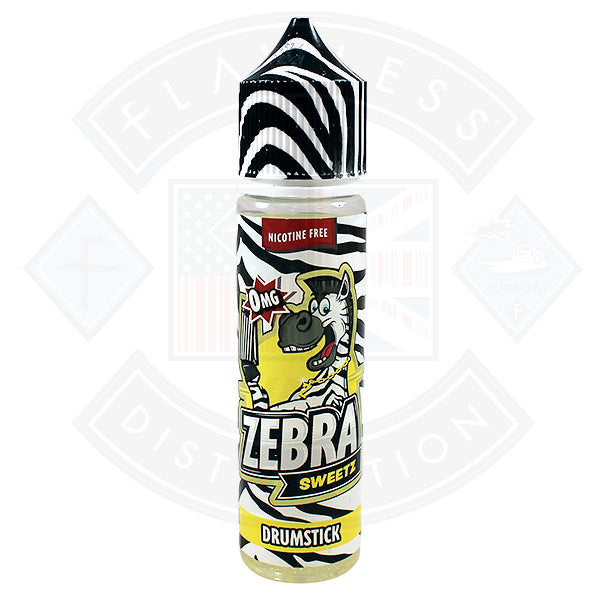 Zebra Sweetz - Drumstick 0mg 50ml Shortfill