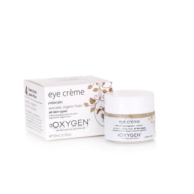 organic eye crème for all skin types New Zealand natural skincare - OxygenSkincare