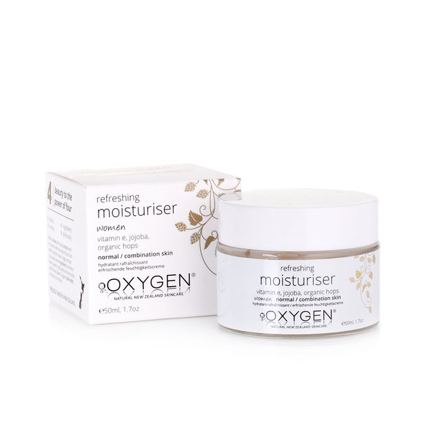 women refreshing moisturiser for normal / combination skin New Zealand natural skincare - OxygenSkincare