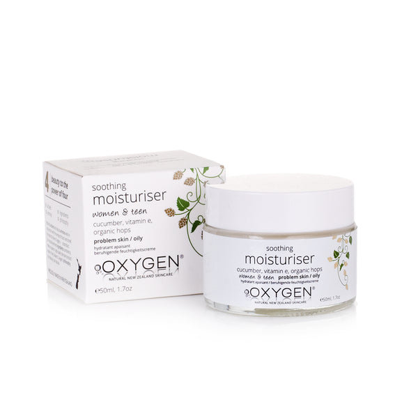 Women & teen soothing moisturiser for problem / sensitive / oily skin - Oxygen natural skincare